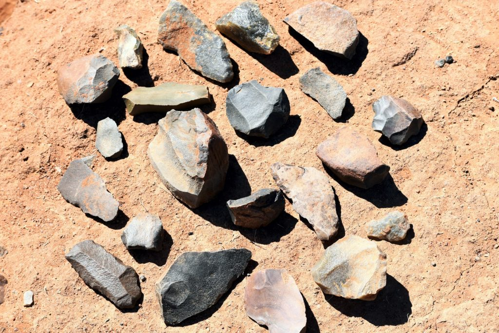 Stone tools used in the Prehistoric Age